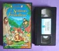 VHS Film Ita Animazione IL SETTIMO FRATELLINO Alfadedis Claudio Lippi no dvd°V43