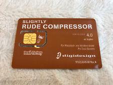 Avid DigiDesign Slightly Rude Compressor Plug In iLok Activation Card No Fee