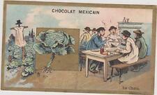 CHROMO ANCIEN PUBLICITAIRE CHOCOLAT MASSON-CHOCOLAT MEXICAIN/ LE CHOU/SOUPE