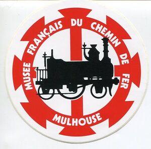 Aufkleber/Sticker: MUSEE FRANCAIS DU CHEMIN DE FER Mulhouse (1980er Jahre)