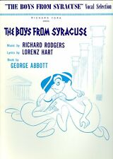THE BOYS FROM SYRACUSE Vocal Selection Songbook sheet music Sing For Your Supper