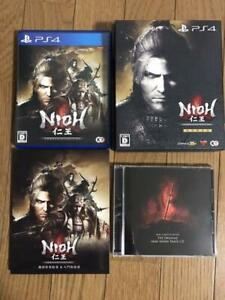 Nioh Complete Edition with Mini Soundtrack CD Booklet JAPAN OFFICIAL PS4 USED