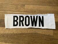 BROWN Game Used Worn Portland Pirates White Jersey Nameplate