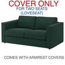 Ikea VIMLE  COVER SLIPCOVER FOR TWO SEATS ( LOVESEAT )  Gunnared dark green