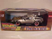 DeLorean 1981 BACK TO THE FUTURE Part 3 Time Machine Die-cast 1:18 SunStar 9inch