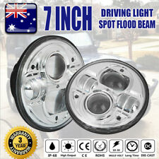 2X 7inch 200W CREE H4 Hi-Lo LED Driving Headlight For JEEP Land Rover Defender