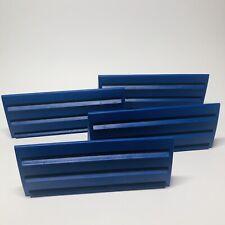 Rummikub Tile Holder Tray Set of 4 Game Replacement Racks Blue 1997 (R)