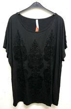 Sheego Damenblusen, - tops & -shirts mit Rundhals-Ausschnitt in Größe 56