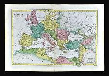 1818 Wilkinson Map Roman Empire Rome Italy Greece Egypt Palestine Britain Spain
