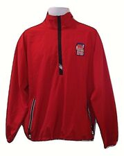 New Balance Mens M Red NBA Hoop It Up Med ¼ Zip Vented Wind Breaker Jacket Sz M