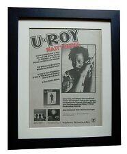 U-ROY+Natty Rebel+TOUR+POSTER+AD+RARE ORIGINAL 1976+FRAMED+EXPRESS GLOBAL SHIP