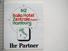 Aufkleber Sticker IHZ - Italia Hotel Zentrale - Hamburg (M1720)