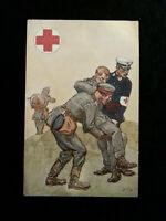 Deutsches Reich - Offizielle Feldpost Karte 1914 Rotes Kreuz