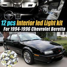 12Pc Super White Car Interior LED Light Bulb Kit for 1994-1996 Chevrolet Beretta