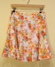 Review - 12 - Apricot Orange/Yellow/Green/White Flower Skirt with Satin lining