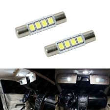 2 x Xenon White T6 28MM 4SMD LED For Car Vanity Mirror Light Sun Visor USDM 6641