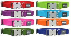 Red Dingo Plain dog /puppy collars and lead | Sizes XS - LG | collars adjustable