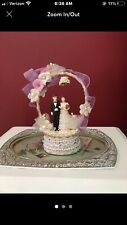 Vintage Wedding Cake Topper - Bride & Groom - Katherine's collection As iS