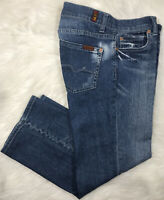 Seven 7 For All Mankind Women's Jeans Crop Boy Cut Button-Fly Waist Size 27