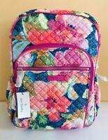 NWT Vera Bradley Large Iconic Campus Backpack IN SUPERBLOOM