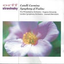 Orff: Catulli Carmina, Ormandy. Stravinsky: Symphony of Psalms, Bernstein.
