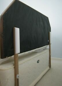 pads to attach to the headboard reduce noise and wall damage!