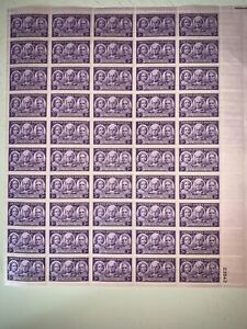 US Stamps SC# 959 Progress of Women 3c sheet of 50 MNH 1948