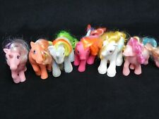 VTG Lot of 6 G1 MLP My Little Ponies Daddy Apple Delight, Rainbow Curl, Twilight