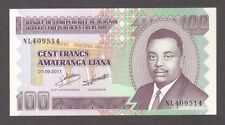 2011 100 FRANCS BURUNDI CURRENCY UNC BANKNOTE NOTE MONEY BANK BILL CASH AFRICA
