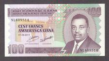 2011 100 FRANCS BURUNDI CURRENCY UNC BANKNOTE NOTE MONEY BANK BILL CASH AFRICA