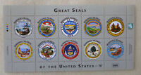 2016 MARSHALL ISLANDS GREAT SEALS OF THE USA 10 STAMP SHEETLET 8.6.16
