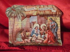 1940 Litho Stand Up Nativity Reproducta Inc Gloria In Excelsis Deo