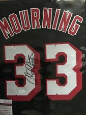 Alonzo Mourning Signed Custom Heat Jersey #10 (JSA)