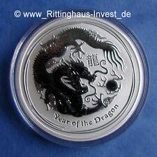 Lunar II Drache 2012 Silbermünze halbe Unze Silber 1/2oz 50cents Dragon silver