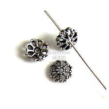 20 Caps calottes coupelles Fleur 7x7x2mm Perles apprêts création  bijoux _ A327