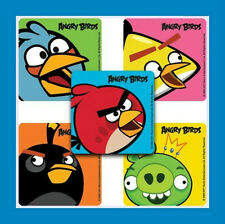 16 Angry Birds Close-Up Stickers Party Favors