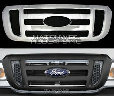 2006-2011 Ford Ranger CHROME Grille Snap On Insert Overlay Front Grill Cover NEW