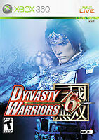 Dynasty Warriors 6 Xbox 360 kids Game Disc Only 16e VI