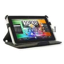 BLACK MULTI-VIEW LEATHER CASE SKIN FOR HTC EVO 4G FLYER TABLET PROTECTOR