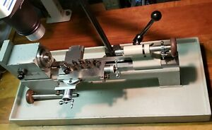 Levin watchmakers lathe 3C or 10mm collet tailstock H duty cross slide compound