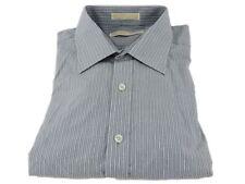 Michael Kors 100% Cotton Dress Shirt Royal Hairline Gray Stripes 16 1/2 32/33 M