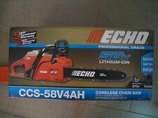 Echo Professional Grade Cordless Chainsaw CCS-58V4AH