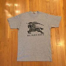 Burberry Gray & Black T-Shirt - Sz Medium