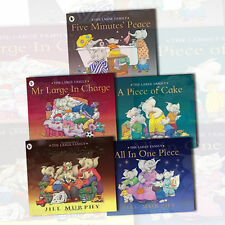 Large Family Series 5 Books Collection Set by Jill Murphy New Free P & P