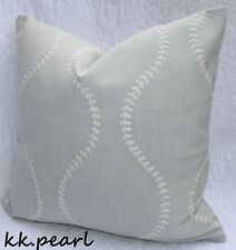"""John Lewis """"Chattis"""" Cushion Cover Embroidery Fabric, Grey Home Decor Modern 16"""""""