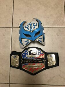 WWE Costume Replica Sin Cara Mask & United States Champion Belt