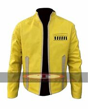Star Wars Luke Skywalker Yellow Faux Leather Jacket High Quality