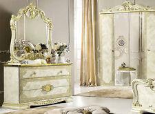 Schlafzimmer Kommode Highboard Mit Schubladen Beige Gold Hochglanz Möbel Italien