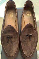 100% Capri Mens Suede Loafers Mocassins Handmade Shoes