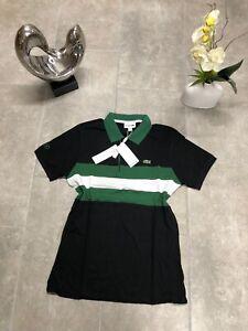 ✅ Lacoste Sport Poloshirt Colourblock Herren SLIM Fit Schwarz Grün M-XXL ✅